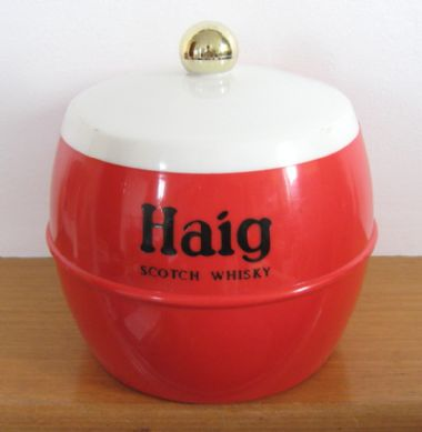 Haig Scotch Whisky - retro vintage advertising plastic ice bucket by Insulex